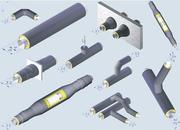 Трубы ППУ, компенсаторы, фасонные изделия в ППУ изоляции