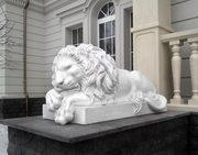 садовые скульптуры ландшафтный дизайн гипсовая лепка фонтан лев