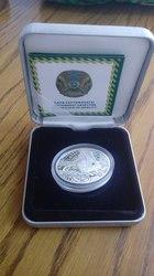 Продам памятную серебряную монету Казахстана