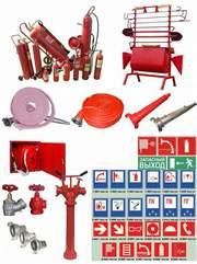 Огнетушители,  рукава,  стволы,  щиты,  ящики