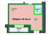 1комн,  Лесная поляна,  38 кв.м,  недорого,  4 этаж