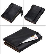 Кожаное портмоне от воровства с карточек/RFID protected/Новинка/