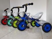 Детский трехколесный велосипед/Отличный подарок/Гелиевые колеса/Музыка